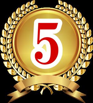5位バッジ